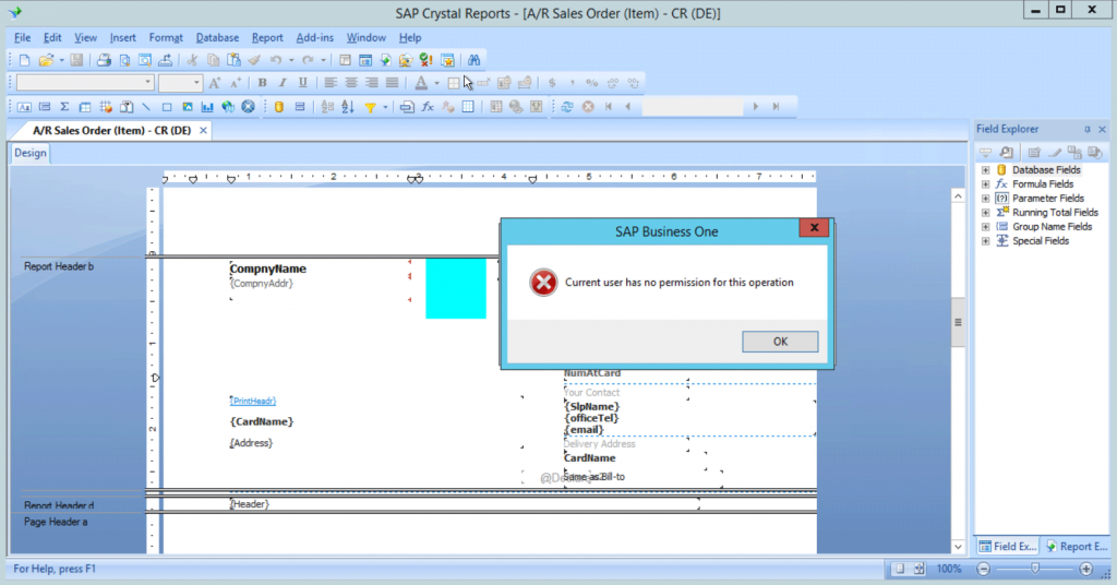 Save crystal reports system flag
