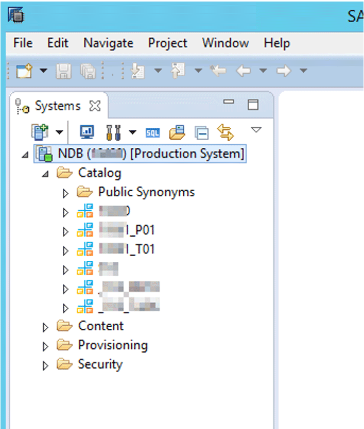 access to the DB on HANA Studio