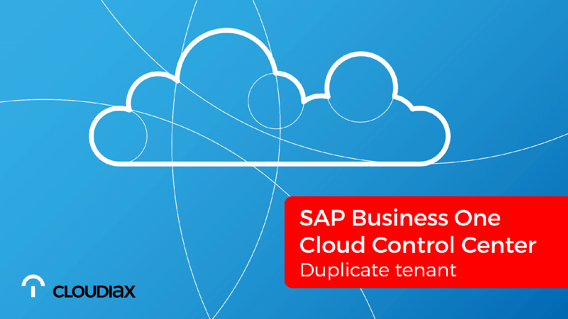 SAP Cloud Control Center - Duplicate tenant