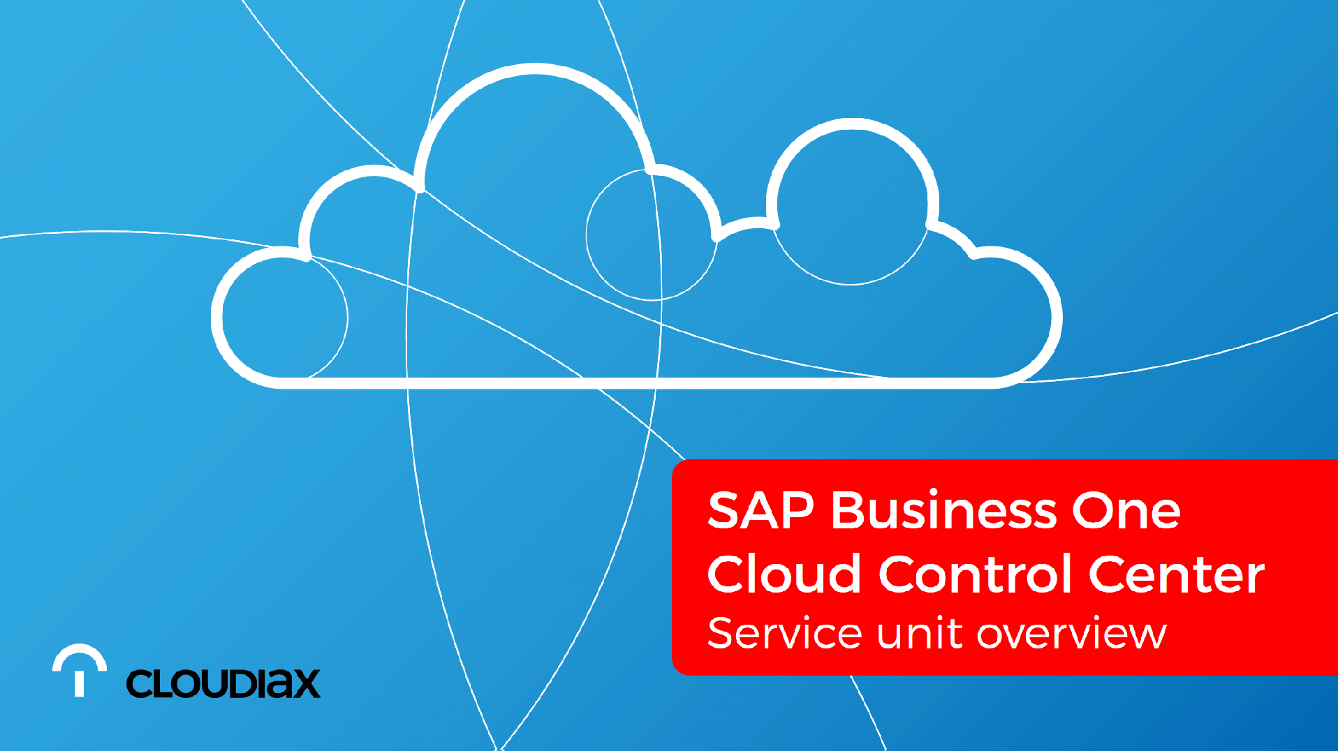 SAP Business One Cloud Control Center - Service unit overview