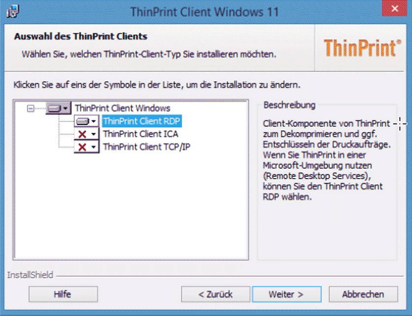 Cloudiax Advanced Printing-Thinprint Client - support - auf English