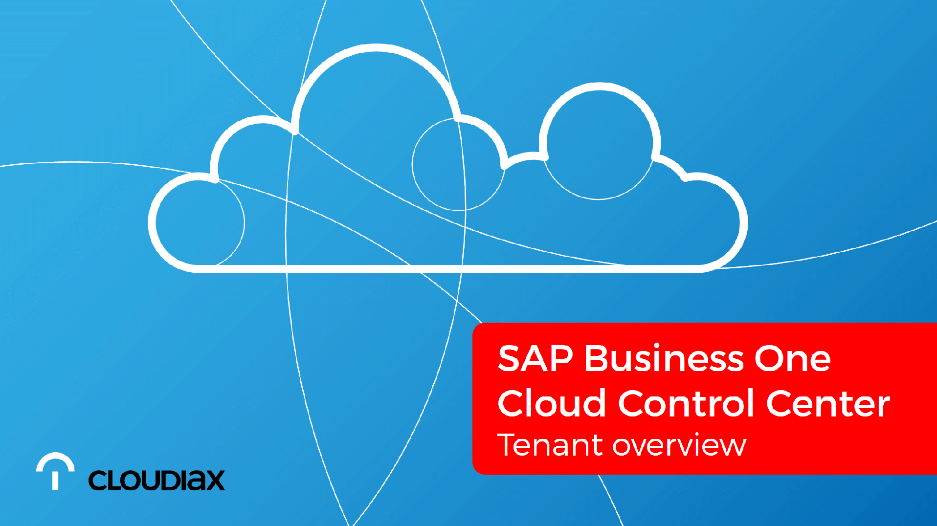 SAP Cloud Control Center - Tenant overview