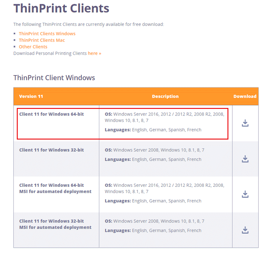 ThinPrint-Client-Windows